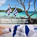 Longshore Tides 100% Cotton Beach Towels in Blue/Gray | Wayfair 548D4D6D799949F8A63852BBD33E4495