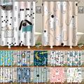 Rideau de salle de bain en Polyester, imperméable, imprimé d'animaux, décor de bain, douche, avec