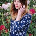 J. Crew Jackets & Coats | Nwot J Crew Cotton Linen Blue White Floral Quilted Zip Up Snap Jacket Coat M 10 | Color: Blue/White | Size: 10