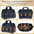 Platform Vesta 20-Inch Wide Mouth Tool Bag Waterproof Tool Organizer Bag For Men w/ Adjustable Shoulder Strap. (20 Inch) | Wayfair