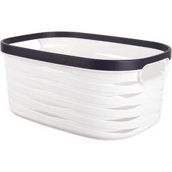 Rebrilliant Plastic Storage Basket, Shower Caddy Basket w/ Handle Pantry Organizer Storage Bin For Kitchen, Bathroom, Shelf Cabinet, Dorm, Office