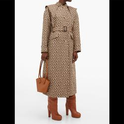 Gucci Jackets & Coats | Gucci Gg Rhombus Trench Wcape | Color: Brown | Size: 6