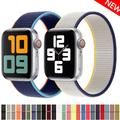 Bracelet Sport en Nylon pour Apple Watch, 44/40/42/38MM, pour montre connectée iWatch série 3 4 5
