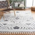 Dakota Fields Southwestern Ivory/Gray Area Rug Polypropylene in White, Size Rectangle 3' x 5' | Wayfair 68B824B2EC2A4D27B485E6493CA9C620
