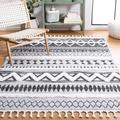 Dakota Fields Southwestern Gray/Black Area Rug Polypropylene in White, Size Rectangle 3' x 5' | Wayfair 22B2F4473F6443E4B9F16F4694390142