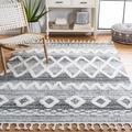 Dakota Fields Southwestern Gray/Ivory Area Rug Polypropylene in White, Size Rectangle 3' x 5' | Wayfair CCA333CD12F54045BEFE073B68FD911D