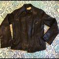 Michael Kors Jackets & Coats | Gorgeous Michael Kors Leather Jacket | Color: Black/Gold | Size: M