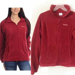 Columbia Jackets & Coats   Columbia Benton Springs Full Zip Fleece Jacket   Color: Red   Size: M