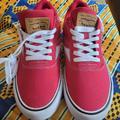 Levi's Shoes | Levis Lance Ct Durable Canvas Lace Up Casual Skate Sneaker Shoes | Color: Red/White | Size: 9.5