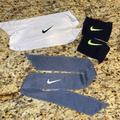 Nike Accessories | 3 Nike Items 2 Headbands 1 Wristband Set | Color: Blue | Size: Os