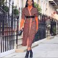 Zara Jackets & Coats | Animal Print Coat | Color: Brown | Size: S
