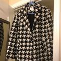 Nine West Jackets & Coats | Houndstooth Coat | Color: Black | Size: S