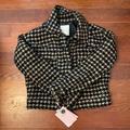 Anthropologie Jackets & Coats | Anthropologie Houndstooth Jacket | Color: Black | Size: Xs
