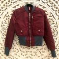 Free People Jackets & Coats   Free People Quilted Bomber Jacket Xs   Color: Brown/Purple   Size: Xs