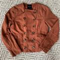 Madewell Jackets & Coats   Madewell Linen Blend Double Breasted Jacket   Color: Brown/Red   Size: M