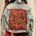 Free People Jackets & Coats | Free People Patchwork Quilted Denim Jacket Size Xs | Color: Brown | Size: Xs