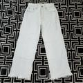 American Eagle Outfitters Jeans   American Eagle Wide Leg Crop Jeans Size 00 Reg   Color: Silver/White   Size: 00