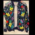 Adidas Jackets & Coats | Adidas Original Floral Track Jacket | Color: Cream | Size: Xs