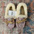 J. Crew Shoes | J. Crew Crewcuts Sparkle Moccs Nwt | Color: Cream | Size: 12g