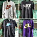 Nike Shirts | Nike Branded Clothing: $120 For 10lbs Of Clothes. | Color: Silver/White | Size: Multiple Sizes