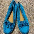 Coach Shoes | Coach Carisa Teal Boat Shoe | Color: Blue | Size: 9.5
