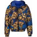 Baroque-print Jacket - Blue - Versace Jeans Jackets