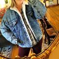 Levi's Jackets & Coats | Levi'S Genuine Vintage Acid Wash Sherpa Jean Jacket | Color: Blue | Size: M