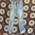 American Eagle Outfitters Jeans   Ae Ne(X)T Level Stretch High Rise Jegging Crop   Color: White/Silver   Size: 2