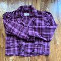 Free People Jackets & Coats | New! Free People Double Plaid Jacket | Color: Purple | Size: L