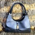 Gucci Bags | Gucci Leather Jackie Bardot Bag | Color: Black/Silver | Size: Os