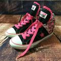 Converse Shoes | Converse Jr Sz 4 One Star High Top Skull Hearts | Color: Pink | Size: 4bb
