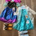 Disney Costumes   Frozen Elsa And Anna Costumes With Shoes   Color: Gray   Size: Osg