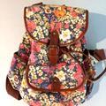 Disney Bags | Disney Floral Rucksack | Color: Brown | Size: Os