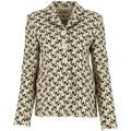 Printed Twill Buttoned Jacket - Brown - Tory Burch Jackets