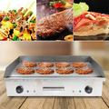 Longway5 Commercial Electric Countertop Griddle Flat Top Grill Hot Plate BBQ Grill 4400W Stainless Steel in Gray, Size 9.06 H x 15.75 D in | Wayfair