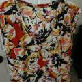 J. Crew Tops   J Crew Round Neck Print Blouse   Color: Red/White   Size: 12