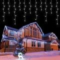 Arlmont & Co. LED Icicle Christmas Lights Outdoor/Indoor 49Ft 60 Drops w/ 300 LED The Perfect Ratio, 8 Lighting Modes, Connectable Icicle Lights