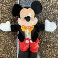 Disney Toys | Disney Parks Mickey Mouse Disney On Ice Tuxedo Plush 10 Toy Gold Emblem On Foot | Color: Black/Red | Size: 10
