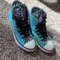 Converse Shoes   Girls Chuck Taylor All-Star Converse - Size 2   Color: Black/Blue   Size: 2g