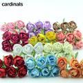 Mini Bouquet de roses artificielles en soie, 6 pièces/lot, fausses fleurs, pour la maison,