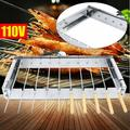 YINOMA Electric BBQ Grill Indoor Outdoor Picnic Party Home Garden Camping Stand Grill Portable in Gray, Size 2.36 H x 11.81 W x 19.69 D in | Wayfair