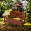 Red Barrel Studio® Hardwood Hanging Porch Swing, 2-Seater Without Frame Wood in Brown, Size 23.7 D in | Wayfair 1D5E42586C4447A98F8418DE369EAC6E