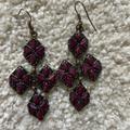 J. Crew Jewelry | J Crew Chandelier Earrings | Color: Purple | Size: Os