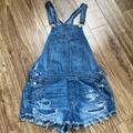 American Eagle Outfitters Jeans | American Eagle Outfitters Denim Short Overalls S | Color: Blue | Size: Small