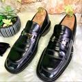 Gucci Shoes | Gucci Men'S Black Leather Casual Loafers, 7.5d | Color: Black | Size: 7.5