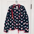 Disney Jackets & Coats | Disney Store Minnie Mouse Print Fleece Jacket Girls Size 78 | Color: Black/Red | Size: 7g