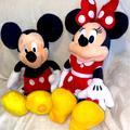 Disney Toys | Mickey & Minnie Mouse Set Plush 17 Toy Disney World Disneyland Disney Store | Color: Black/Red | Size: One Size