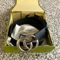 Gucci Accessories   Gucci Leather Belt With Double G Buckle- Size 80   Color: Black/Silver   Size: Gucci 80, 32inches, Us 225