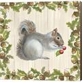 Millwood Pines Woodland Critter III By Patsy Ducklow, Canvas Wall Art Canvas & Fabric in Brown/Green, Size 24.0 H x 24.0 W x 1.5 D in | Wayfair