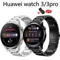 Bracelet en métal Pour Huawei Montre 3 GT 2 Pro montre Intelligente Bracelet en acier Inoxydable